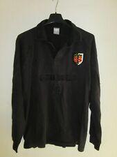 Maillot rugby STADE TOULOUSAIN noir NIKE coton PEUGEOT vintage rare L Toulouse