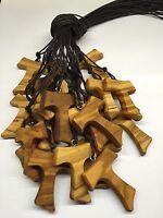Tau mod.XL lotti da 10 a 150p  in legno di ulivo,croce di S. Francesco d'Assisi