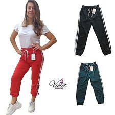 Pantalone tuta donna con elastico in vita e laccetto regolabile estiva sportiva