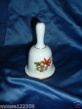 Fine Bone China Bell Poinsetta Holly Pattern