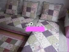 Vintage Cotton Door Floor Mat Rug Runner Sofa Couch Throw Carpet Patchwork Noble