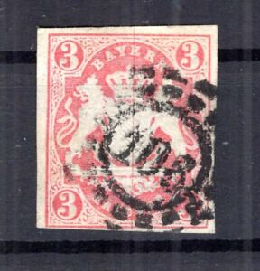 Bavaria Number Stamp oMR106 15 Impeccable Postmarked (B5765