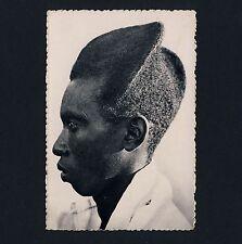 Ruanda-Urundi YOUNG MAN w FANCY HAIRSTYLE / IRRE FRISUR Afrika * 50s Ethnic PC