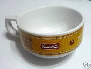 """CAMPBELL'S Soup Ceramic MUG BOWL Yellow THAILAND RARE New 2.5"""" x 5"""" dia"""