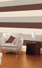 SALE! Brown Cream Mocha Stripe Wallpaper