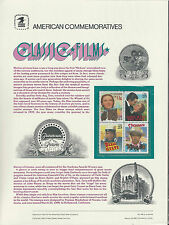 # 2445-2448 CLASSIC FILMS: WIZARD OF OZ, STAGECOACH... 1990 COMMEMORATIVE PANEL