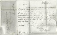 # 1836 LONDON LETTER TO WYMONDHAM MISSENT TO ATTLEBOROUGH REV Wm PAPILLON WILL
