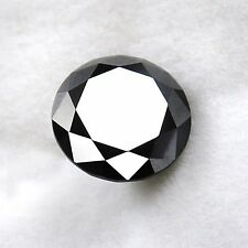 0.78 ct Carbon Black Natural Diamond - Excellent Brilliant cut - Opaque - COA