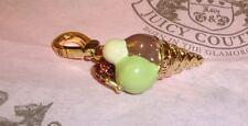 New Juicy Couture Gelato Ice Cream Charm For Bracelet, Necklace,Handbag Keychain