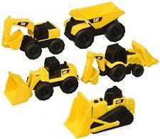 Cat Mini Machines - 5 Toy Vehicle Playset - Digger Dump Truck Bulldozer Backhoe