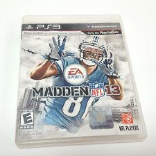 Madden NFL 13 Sony PlayStation 3 2012 No Book PS3 Football
