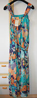 M&S Indigo Multicoloured Japanese Floral Garden Dress Size 12 BNWT RRP £45