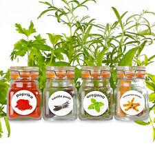 50 De Plástico Lavable hierbas y especias Frasco Etiquetas. ronda Spice Rack Botella pegatinas.