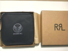 New Ralph Lauren RRL Logo Indigo Blue Nylon zip up  Bifold Wallet