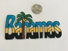 """""""BAHAMAS""""  Embroidered Iron On Patch 5""""x 2""""  Beautiful Colors!!"""