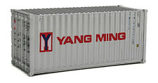Walthers HO Scale 20' Corrugated Shipping Container Yang Ming (Gray/Red/Blue)