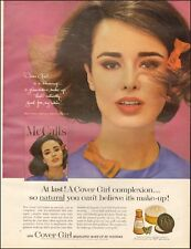 1960's Vintage ad for New Cover Girl Make-up Noxzema Pretty Model
