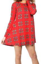 Vestiti da donna a manica lunga rossa formale