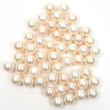 1 Piece 10-11mm AAA Round Half Drilled Cultured White Fresh Water Pearl