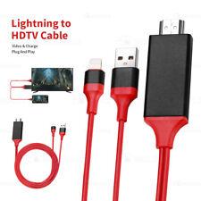 2M Rot 1080P 8 Pin USB Lightning zu auf HDMI Kabel HD TV AV Adapter für all iOS