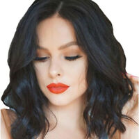 Natural Black Bob Wigs Women Hair Replacement Wigs Synthetic Wigs y