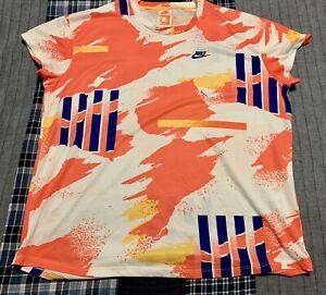 Men's Nike Challenge Court Tennis T-Shirt Tee Shirt CK9797-100 Agassi Size XL