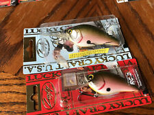 Pair of RARE Lucky Craft Discontinued *Tomato Shad* Rick Clunn Signature Series