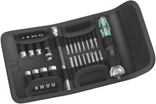 """Wera Tool Socket Wrench Zyklop Speed 1/4"""" Ratchet Bits Set 26 Pieces Metric"""