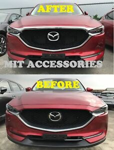 MAZDA CX-5 2017-ON 2nd Gen Engine Hood front Grill Garnish ABS chrome cover trim