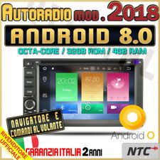 AUTORADIO DVD Android 8.0 Octa-Core 4GB-32GB FIAT CROMA PANDA STILO TIPO IDEA