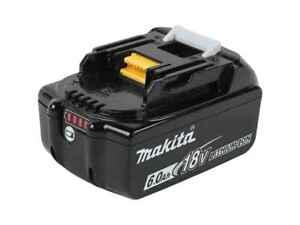 Makita BL1860B 18v 6Ah LXT Li-ion Genuine Makstar Battery Pack