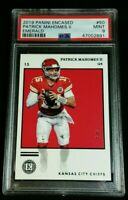 PSA 9 POP 2 PATRICK MAHOMES II EMERALD #5/5 TRUE CARD #50 NO INSERT 2019 Encased