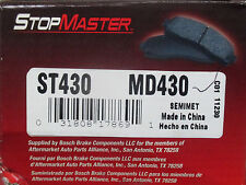 BRAND NEW STOP MASTER MD430 / D430 BRAKE PADS FITS VEHICLES LISTED ON CHART