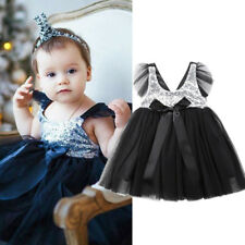 USA Long Princess Girls Flower Sequin Baby Lace Party Gown Formal Tutu Dresses