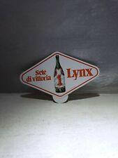 ADESIVO ' LYNX - SETE DI VITTORIA ' 14x8 CM VINTAGE