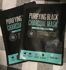 SOO AE Purifying Black Charcoal Mask Hydration + Moisture NIP!! B12 Lot Of 2