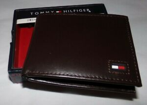 NIB MENS Tommy Hilfiger BI-Fold Wallet / Card Holder~BROWN
