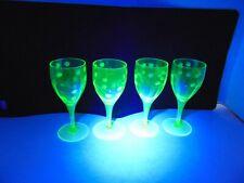 Vintage Cordial Vaseline Glasses -