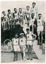 USA Eddie O'Brien Glenn Hardin C.Johnson Mack Robinson OLYMPIC GAMES 1936 CARD