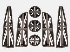 UK Flag Interior Coasters Cup Holders Side Door Mats For Mini cooper R56 Mk2