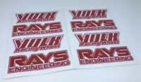 "8 PCS Rays Style Wheel RED Decal Sticker TE37 OE SIze JDM 16"" 17"" 18"" 19"" Rims"