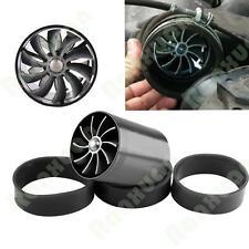 Universal Black Dual Fan Turbonator Fuel Saver For Turbo Supercharger Air Intake