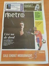 Newspaper Metro Holland George Michael cover rare JANUARY 2018