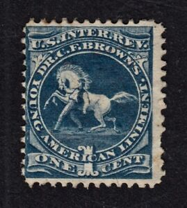 "1870s U.S. PROPRIETARY TAX STAMP, #RS36b, ""DR. C.F. BROWN'S LINIMENT"""". FINE"