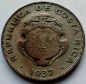 1937 Republic of Costa Rica 1 Colon • Toned • XF