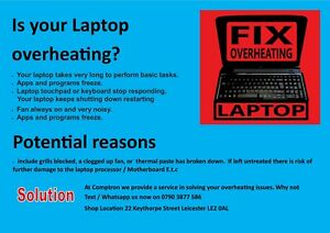 Laptop overheating solution service