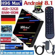 H96MAX Plus+ 4GB+32GB Android 8.1 Smart TV Box 4K HDR10 USB3.0 Quad Core 5G WiFi