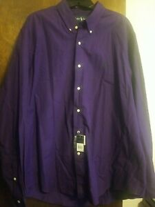 Mens Ralph Lauren Polo Purple Button Down Shirt XL