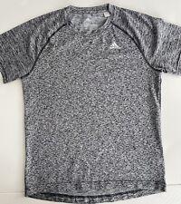 Adidas Running T-Shirt Grey Marl Small