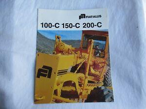 Fiat-Allis 100-C 150-C 200-C motor grader brochure
